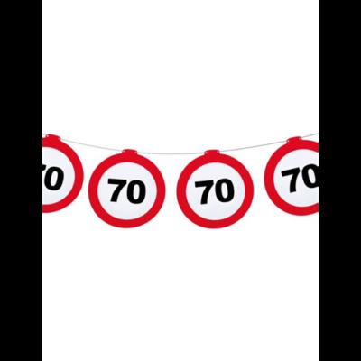 Sebességkorlátozó tábla mintás girland - 70