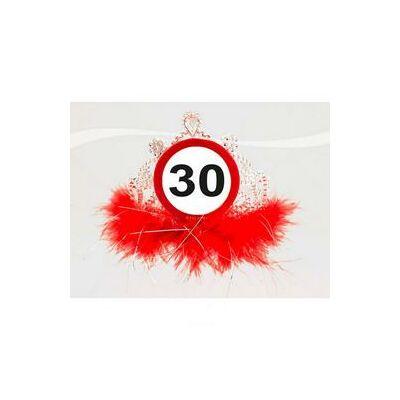 30-as sebességkorlátozó, számos születésnapi parti tiara