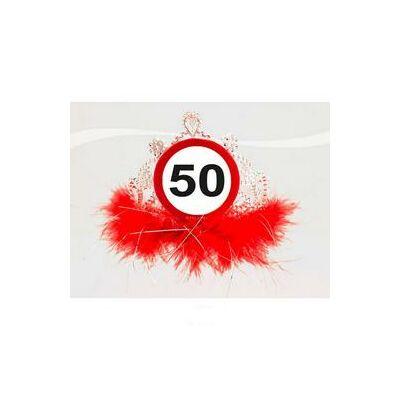50-es sebességkorlátozó számos szülinapi parti tiara