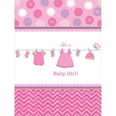 It's a girl rózsaszín asztalterítő 138 x 259 cm