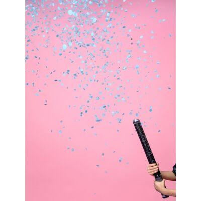 Konfetti ágyú kék konfettivel 60 cm