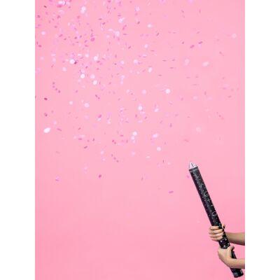 Konfetti ágyú pink konfettivel 60 cm