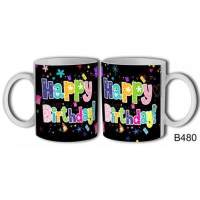 Bögre - Happy Birthday! (madárkás)