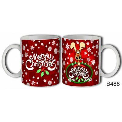 Bögre - Merry Christmas (hópihés, szarvasos)
