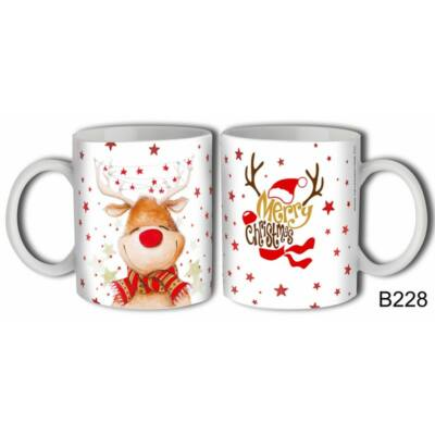 Bögre - Merry Christmas (szarvasos)