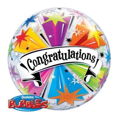 22 inch-es Congratulations Banner Bubble Léggömb Ballagásra