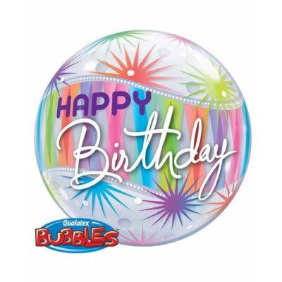 56 cm-es Birthday sorbet starburst - Szülinapi bubbles léggömb