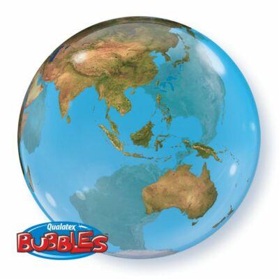 56 cm-es Bubbles lufi Földgömb mintával