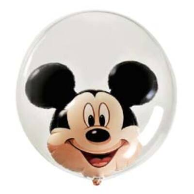 61 cm-es Mickey Mouse - Double Bubble léggömb