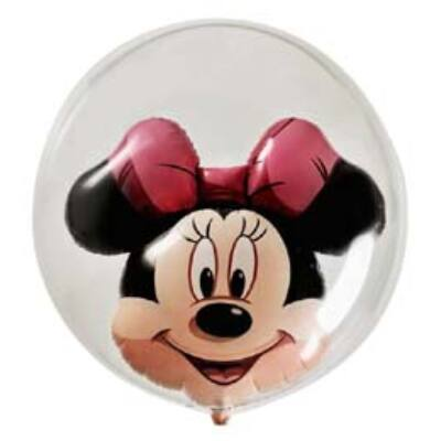 61 cm-es Minnie Mouse - Double Bubble léggömb