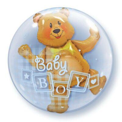 61 cm-es Maci Baby Boy felirattal - Double Bubble léggömb