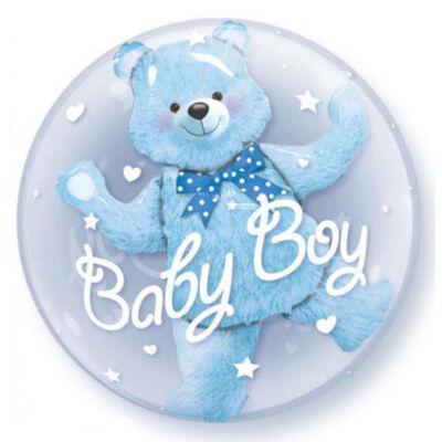 61 cm-es Macis Baby Boy - Double Bubble léggömb