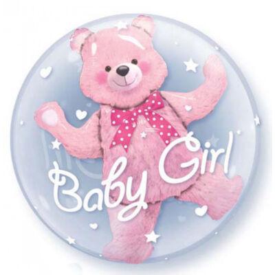 61 cm-es Macis Baby Girl - Double Bubble léggömb