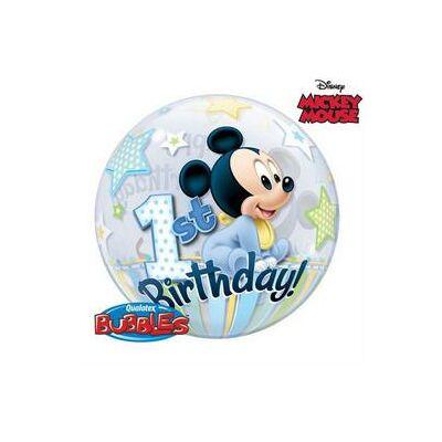 56 cm-es Disney Mickey Mouse Bubbles Lufi Első Szülinapra