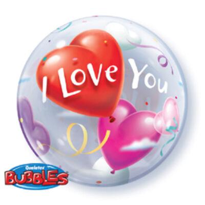 56 cm-es I Love You Heart Balloons Szerelmes Bubble Léggömb