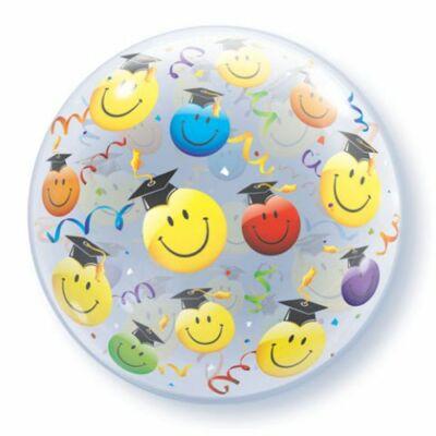 56 cm-es Bubbles lufi,  Smiley mintával