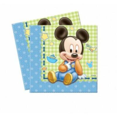 Bébi Mickey Mouse szalvéta 33 x 33 cm 2 rétegű 20 db