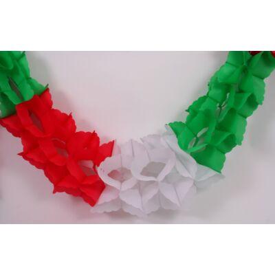 Girland piros-fehér-zöld, 380x25x25 cm
