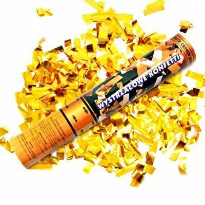 Konfetti ágyú, arany szalagokkal 40 cm