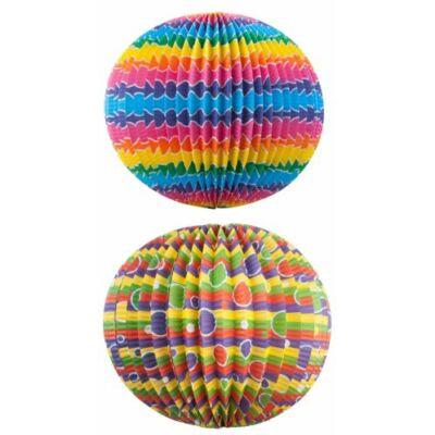 Lampion kerek színes - 22 cm