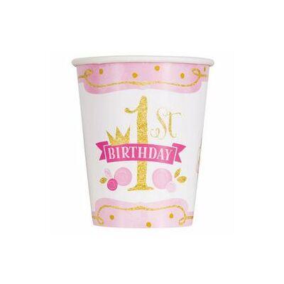 First Birthday első szülinapi pohár kislányoknak