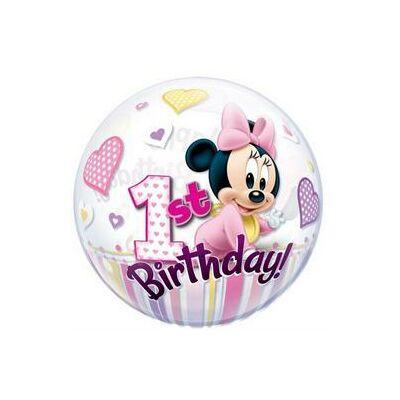 56 cm-es Disney Minnie Mouse Bubbles Lufi Első Szülinapra