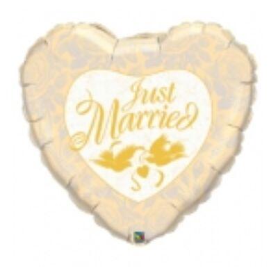 91 cm-es Just Married feliratos esküvői fólia léggömb