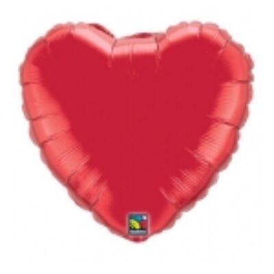 91 cm-es szív alakú fólia léggömb