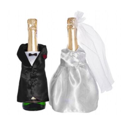 Esküvői üvegre húzható ruha - 2 db-os