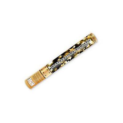 Konfetti ágyú, arany csillagokkal 40 cm