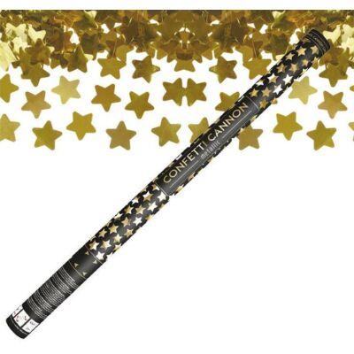 Konfetti ágyú arany csillagokkal 80 cm