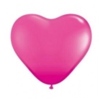 Szív alakú 15 cm-es gumi lufi - vadmálna
