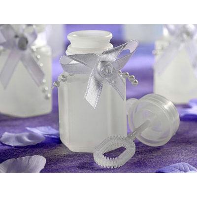 Szalagos buborékfújó esküvőre