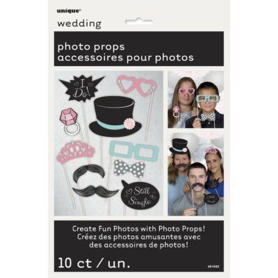 Vicces kiegészítő szett esküvői fotózáshoz