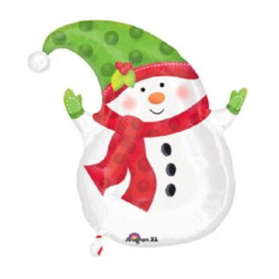 18 inch-es Hóember formájú karácsonyi fólia léggömb