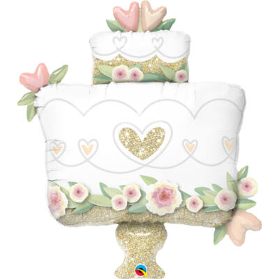 41 inch-es fólia léggömb, esküvői torta alakú