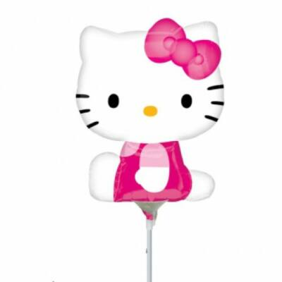 Mini fólia lufi Hello Kitty pink ruhába