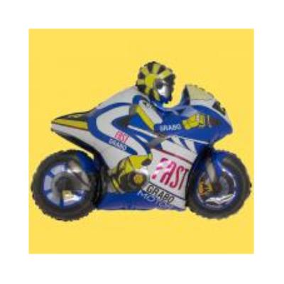 Mini fólia lufi - Kék motor