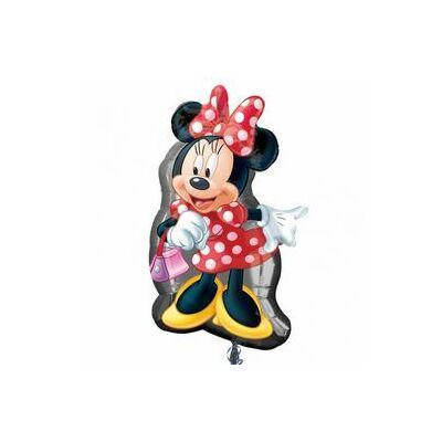 Super shape fólia léggömb - Minnie egér pöttyös ruhában