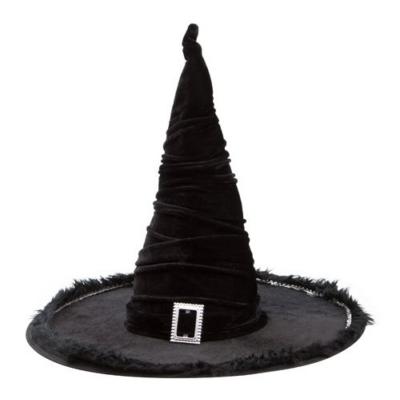 Fekete bársony boszorkány kalap 449dfe0ba6