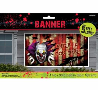 Hátborzongató fali dekoráció Halloweenre 1,65m x 85 cm
