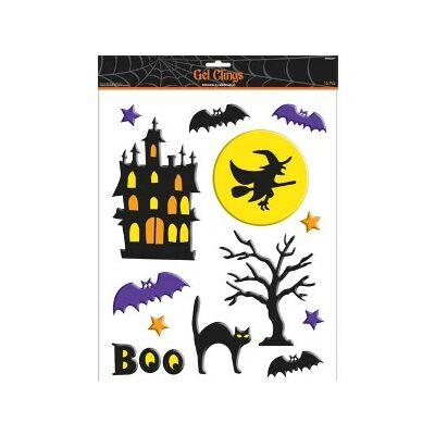 Zselés ablakmatrica Halloween-ra