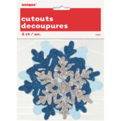 Glitteres hópehely függő dekoráció