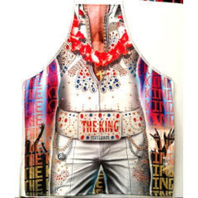 Kötény Elvis alakkal - The King felirattal