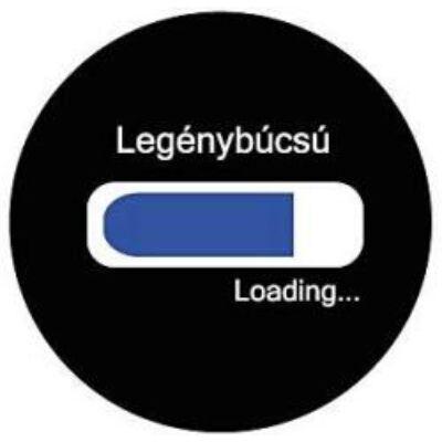 Legénybúcsú loading kitűző