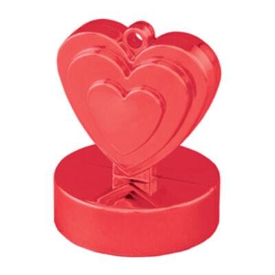 Szíves léggömbsúly - Piros