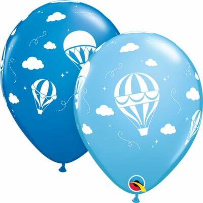 11 inch-es hőlégballon mintás léggömb fiús színekben