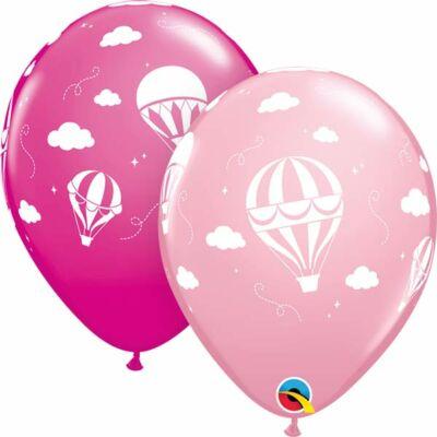 11 inch-es hőlégballon mintás léggömb lányos színekben