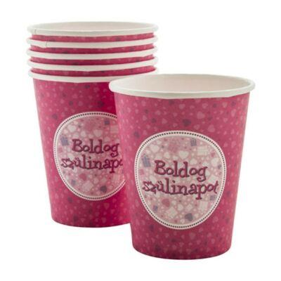 Boldog születésnapot parti pohár - pink