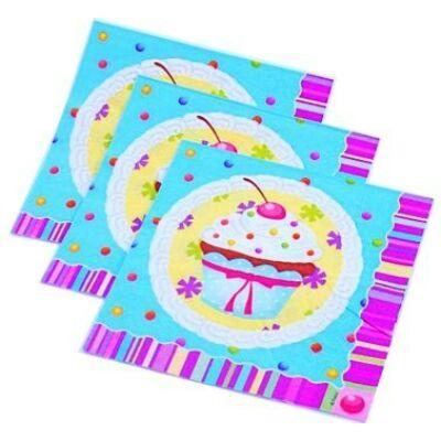 Meggyes- muffinos szalvéta 33 x 33 cm 12db/cs